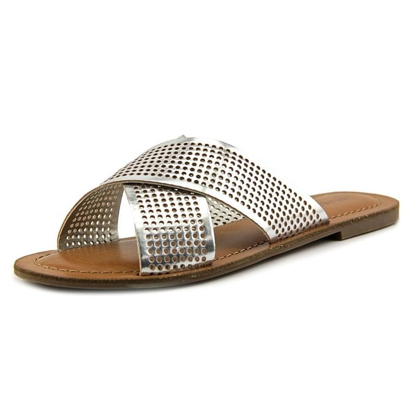 Indigo Rd. Bevrlie Women Open Toe Synthetic Silver Slides Sandal
