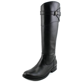 Frye Molly Button Tall Round Toe Leather Knee High Boot