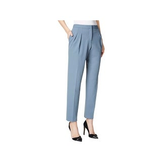 Calvin Klein Womens Petites Ankle Pants Pleated Flat Front