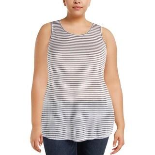 Calvin Klein Jeans Womens Tank Top Cotton Striped - XL