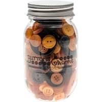Buttons Galore Button Mason Jars-Halloween