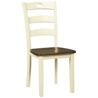 Ashley Furniture D335-01 Two-Tone Finish Dining Room Side Chair Set of 4
