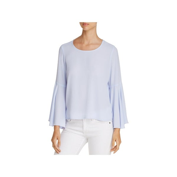 Vince Camuto Womens Blouse Crepe Bell Sleeve