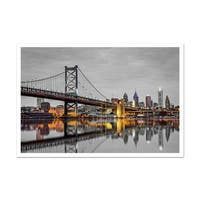 Philadelphia Touch of Color Skylines Matte Poster 36x24