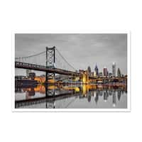 Philadelphia Touch of Color Skylines Matte Poster 24x16