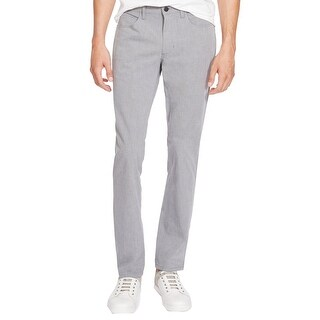 Kenneth Cole NEW Gray Seagull Mens Size 31x30 Slim-Fit Five Pocket Pants