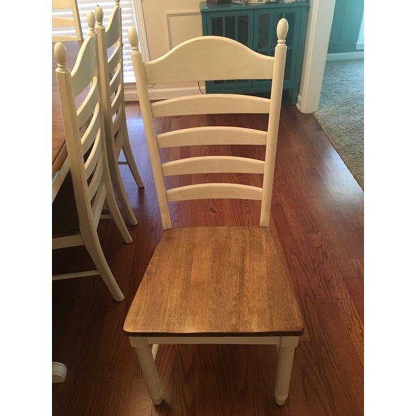 Springfield Farmhouse Ladderback Dining Chair   Free Shipping Today    Overstock.com   19890032
