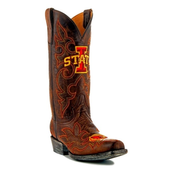 Gameday Boots Mens College Team Iowa State Cyclones Brass