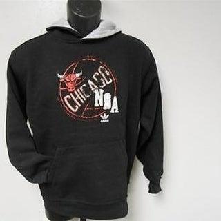 Mended Chicago Bulls Adidas Black Hoodie Youth M Medium 10/12 23Ne