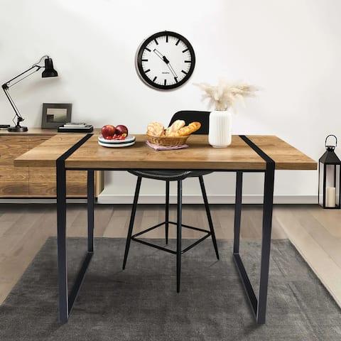 "Rectangle Bar Height Table Counter High Top Tall Desk - 55.1""x27.6""x35.4"""