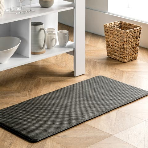 nuLOOM Casual Solid Anti Fatigue Kitchen or Laundry Room Comfort Mat