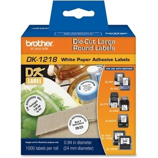 Brother DK1218 Brother Label Maker Tape Cartridges - 1 Length - 1000 / Roll - Direct Thermal - White - 1 Roll