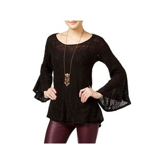 Jessica Simpson Womens Juniors Blouse Bell Sleeves Casual