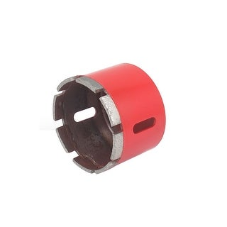 Unique Bargains Red Housing 10mm Shank 75mm Dia Granite Marble Wet Dry Diamond Hole Saw Cutter
