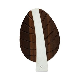 Pacific: Marble & Wood Leaf Tray (VISKI)