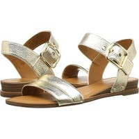 Franco Sarto Womens Patterson Leather Open Toe Casual Ankle Strap Sandals