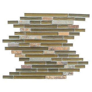 Miseno MT-CONTINENTALLINEARSHBARK  Continental - Bark Glass Visual - Wall Tile (Sold by Sheet)