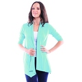 Simply Ravishing Women's Basic 3/4 Sleeve Open Cardigan (Size: Small-5X) - Thumbnail 4