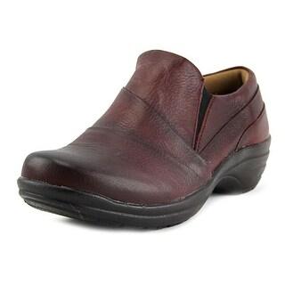 Comfortiva Sebring Round Toe Leather Clogs