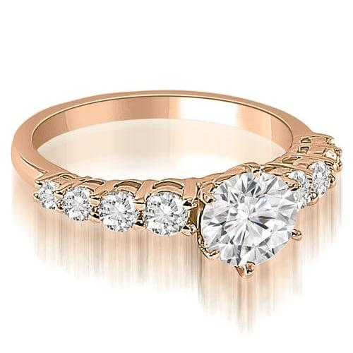 1.00 cttw. 14K Rose Gold Round Cut Diamond Engagement Ring