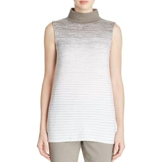 Lafayette 148 Womens Petites Sweater Vest Turtleneck Striped - M|https://ak1.ostkcdn.com/images/products/is/images/direct/21dfad260478a12e141566bd92bb6ffdd55bb218/Lafayette-148-Womens-Petites-Sweater-Vest-Turtleneck-Striped.jpg?impolicy=medium