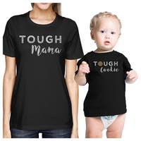Tough Mama & Cookie Black Mom and Baby Couple T-Shirt Funny Gifts