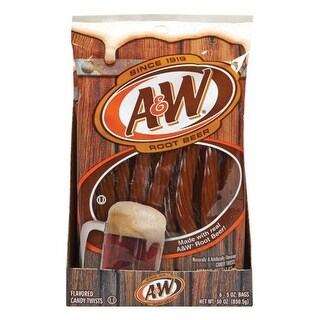 Kennys Candy 150656 5 oz Licorice Twists Root Beer - pack of 6
