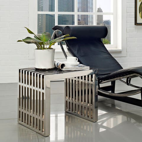 Modern Design Stainless Steel Accent Table