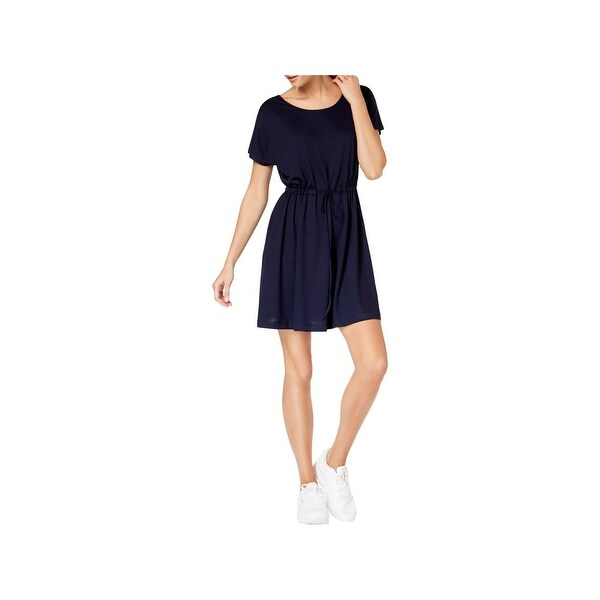 9ff9275cfe9 Shop French Connection Womens T-Shirt Dress Tie-Waist Jersey - Free Shipping  On Orders Over  45 - Overstock - 28046308