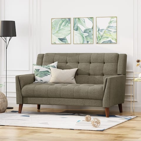 Candace Mid-century Modern Fabric Loveseat by Christopher Knight Home
