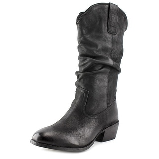 Naughty Monkey Shavano Women Round Toe Leather Mid Calf Boot