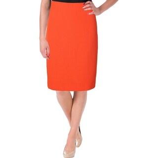 Kasper Womens Vale Pencil Skirt Knee-Length Slit