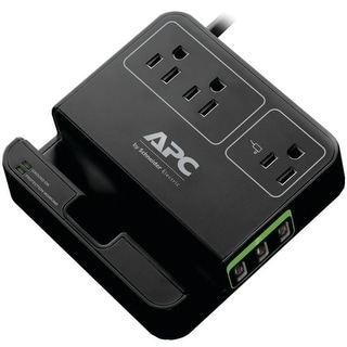 Link to APC P3U3B 3-Outlet SurgeArrest(R) Surge Protector with 3 USB Ports (Black) Similar Items in Cables & Connectors