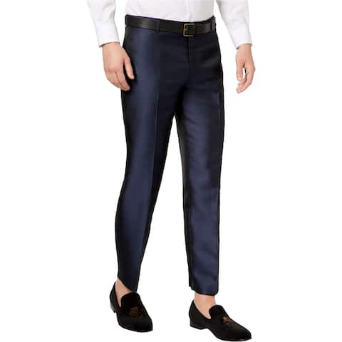 I-N-C Mens Peacock Dress Pants Slacks, Blue, 36W x 30L