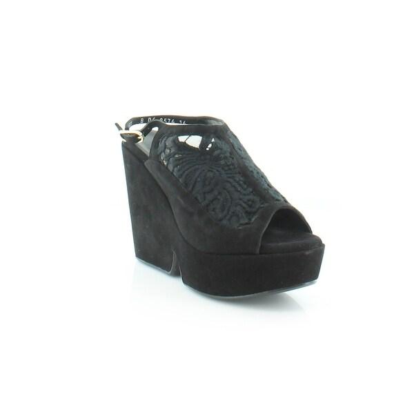 Robert Clergerie Danat Women's Sandals & Flip Flops Chev vel Noir - 6.5