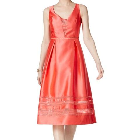 Adrianna Papell Womens Sleeveless Sheath Dress