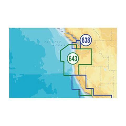 Lowrance MSD/643PP Platinum Plus Oregon and California - Multicolor