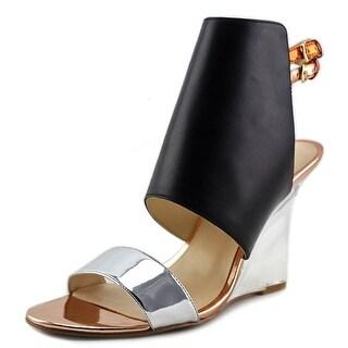 Nine West Bueta   Open Toe Leather  Wedge Heel