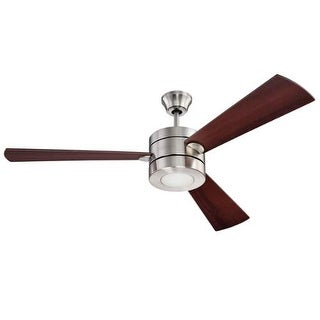 "Ellington Fans TRI543 Triad 54"" 3 Blade AC Motor Indoor Ceiling Fans with Light Kit Included"