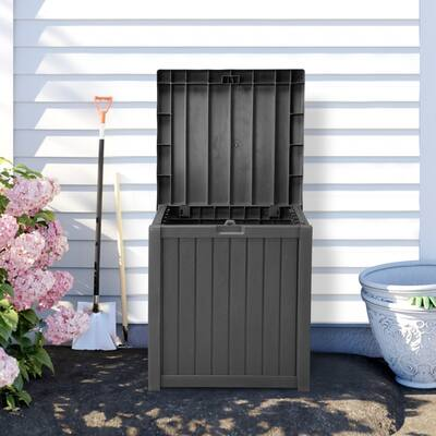 Ainfox 52 Gallon Small Deck Box Outdoor Storage Container