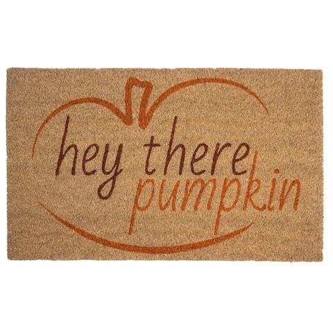 Hey There, Pumpkin Coir Doormat