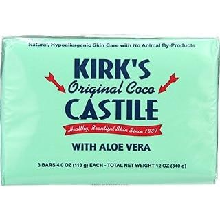 Kirk's Natural Castile Soap Bar Aloe 3Pk 3/4-ounce