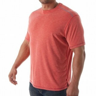 Tommy Bahama NEW Cherry Red Mens Size Medium M Textured Basic Tee Shirt