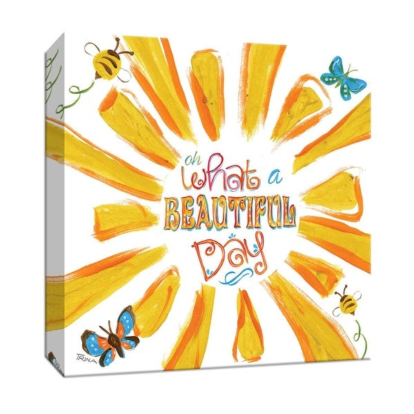 """PTM Images 9-147137 PTM Canvas Collection 12"""" x 12"""" - """"Sunburst Beautiful Day"""" Giclee Sayings & Quotes Art Print on Canvas"""