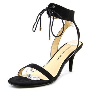 Chinese Laundry Ravish Women Open-Toe Suede Black Slingback Sandal