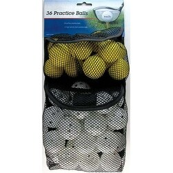 Intech Golf 36 Pack Practice Balls (24 with Holes, 12 Foam)