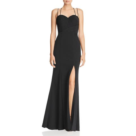 Bariano Women's Strappy Sweetheart Full Length Sleeveless Gown - Black