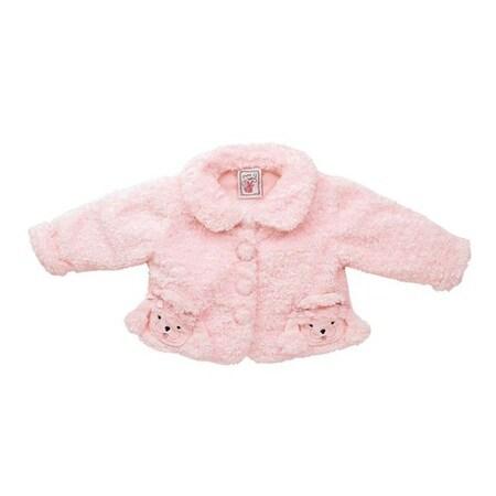 Fuzzy Wear Girls Pink Poodle Jacket, 12 - 18 months