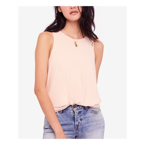FREE PEOPLE Womens Pink Brushed Tank Sleeveless Top Size S
