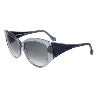 Balenciaga BA0023 90B Clear Blue Oval Sunglasses